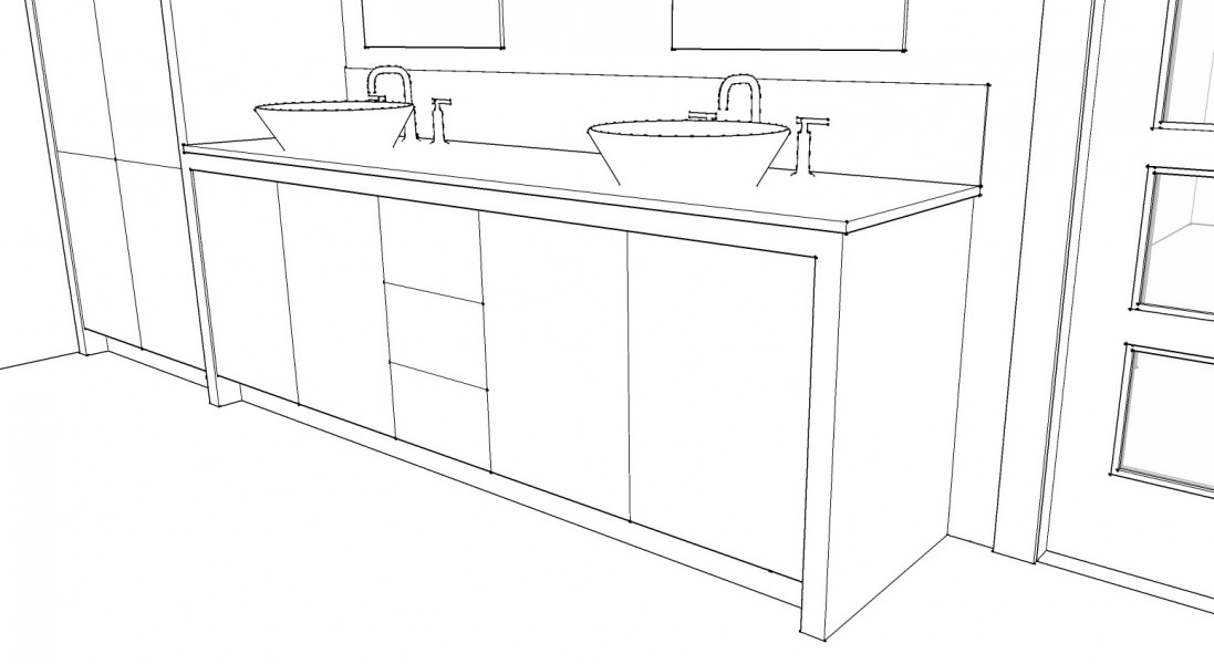 Line Art Bathroom : Bertch bath vanity sketch coloring page