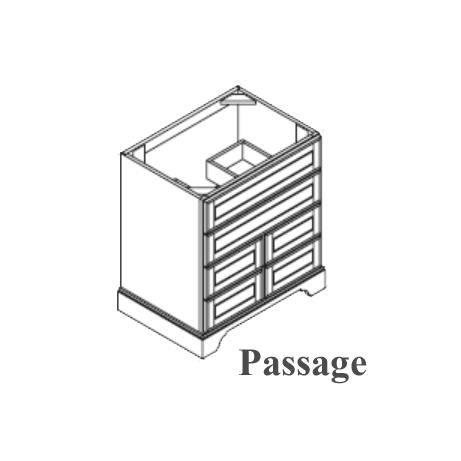 Omega Passage Drawer Base