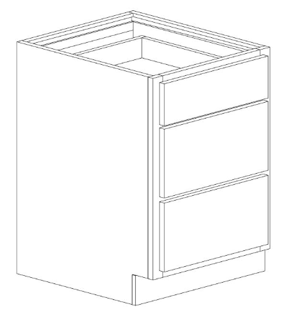 "Bertch 27"" 3 Drawer Base Cabinet"