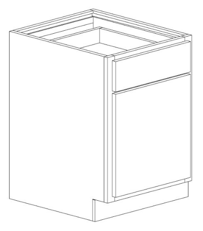"Bertch 15"" Single Door Base Cabinet"